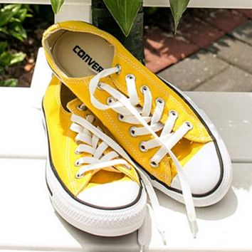 Converse All Star Adult Sneakers Low-Top Leisure shoes Yellow fdaf76c1df