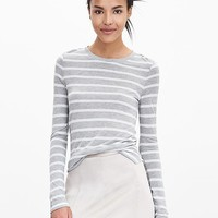 Banana Republic Womens Striped Modal Crew