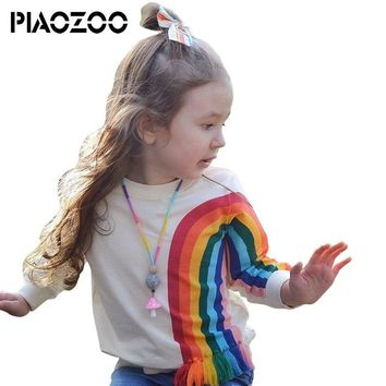 Girls Boys Fashion Cotton Top baby unique design rainbow children Kids sweatshirt pant 2pcs Outerwear Clothes outfit P20