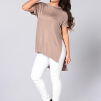 Just Sunshine Tee - Mocha