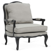 Antoinette Accent Chair, Light Greige, Accent & Occasional Chairs