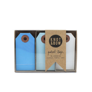 Blue Parcel Tag Trio