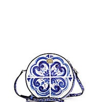 Dolce & Gabbana - Glam Italian Tile Textured Leather Crossbody Bag - Saks Fifth Avenue Mobile