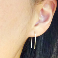 Spark - simple arc earrings - modern and minimalist  - gold filled