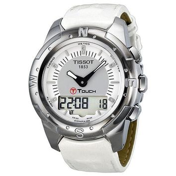 Tissot T-Touch II Multi-Function Titanium White band Ladies Watch T0472204608600