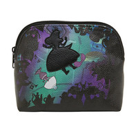 Disney Alice In Wonderland Falling Silhouette Makeup Bag