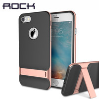 ROCK Royce Kickstand Case for Apple iPhone 7/7 Plus Luxury Brand Phone Cases PC+TPU Phone Sleek Stand Cover for iPhone 7