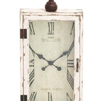 Woodland Imports Awestruck Smart Wood Metal Wall Clock