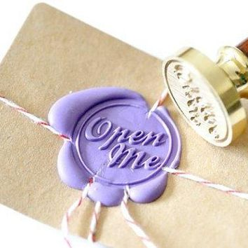 Personalized Open Me Gold Plated Wax Seal Stamp X 1