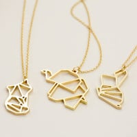 Gold Animal Pendant Necklace