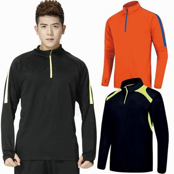 Running T Shirt Men Long Sleeve Sportswear Tennis Jogging basketball Fitness Tops Slim Fit quick Dry Exercise Gym Sports shirts