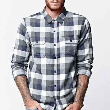 Vans Alameda Long Sleeve Flannel Button Up Shirt - Mens Shirts - Green