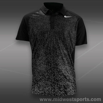 Nike Mens Tennis Shirt, Nike Advantage UV Graphic Polo 522923-010