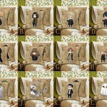 "16"" Harri Potter Draco Malfoy Severus Snape Remus Lupin Hedwig Pillow Case Cover Dakimakura Cushion Home Decor Cosplay Costume"