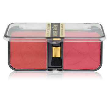 2 Color In 1 Natural Soft Pressed Powder Natural Face Blush Powder w/ Brush