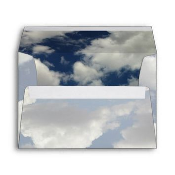 Dreamy Blue Sky with Puffy White Clouds Envelope