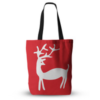 "Miranda Mol ""Reindeer Red"" Holiday Tote Bag, 13"" x 13"" - Outlet Item"
