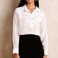 Embroidered Mennecy Buttondown by KAS New York White