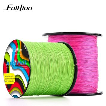 Fulljion 14 Colors 500M 547Yards PE Braided Fishing Line 4 Stands Multifilament Fishing Lines for Carp Fishing Weaves Wire