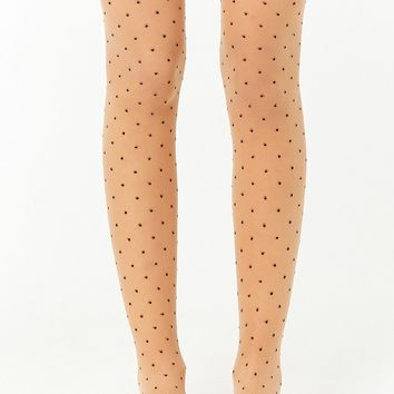 Sheer Dotted Tights