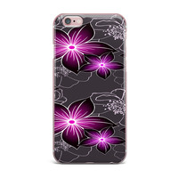 "Alison Coxon ""Charcoal And Amthyst"" Gray Purple iPhone Case"