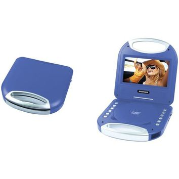 """SYLVANIA(R) SDVD7049-BLUE 7"""" Portable DVD Player with Integrated Handle (Blue)"""