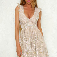 Roaming Free Dress Champagne