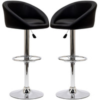 Modway EEI-938 Black Marshmallow Bar Stools Set of 2 in Black