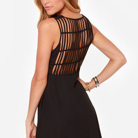 LULUS Exclusive Kiss-Krossed Black Dress