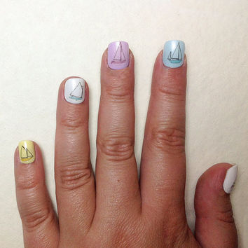 Boat Nail Decals by IHeartNailArt on Etsy