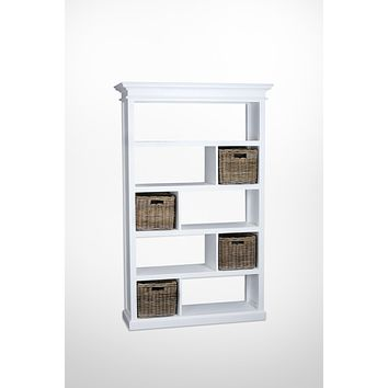 Halifax Room Divider with basket set White semi-gloss