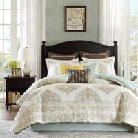 Harbor House Miramar  Cotton Quilted Printed Comforter Bedding Set, Multi