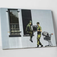 Looting Soldiers by Banksy Gallery Wrapped Canvas Print