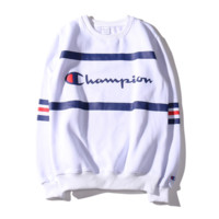 """""""Champion"""" Casual Round Neck Long Sleeve Sweater"""