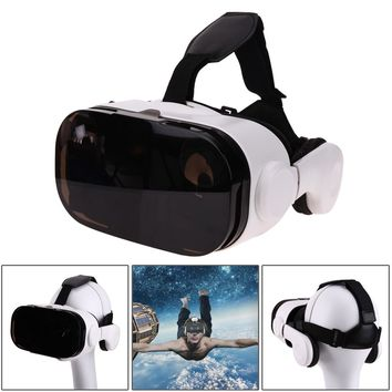 VR Box with Bluetooth Headset 3D Cardboard Helmet Virtual Reality VR Glasses Cardboard for Mobile Phone Smart Phone