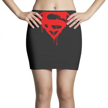 dripping blood superman Mini Skirts