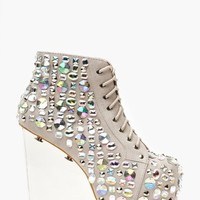 Dina Wedge Boot - Jeweled