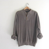 vintage taupe sweater. oversized sweater. size XL