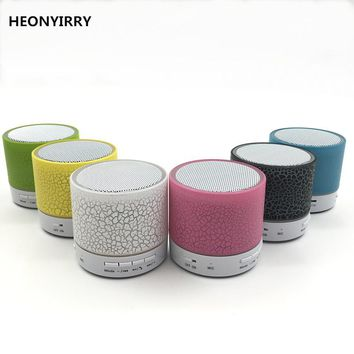 HEONYIRRY LED Mini Wireless Bluetooth Speaker TF USB FM Portable Music Loudspeakers Hand-free call For iPhone Phone PC with Mic