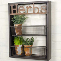 """Herbs"" Wall Shelf"