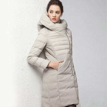 2016 Fashion Women Winter Down Coats Women Long Loosen Down Parkas Winter Hooded Coat Plus Size Warm Outerwear Abrigos Mujer