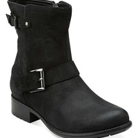 Clarks Black Distressed Plaza Float Leather Boot | zulily
