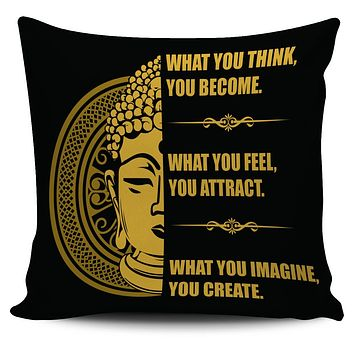 "Buddha Mind Body 18"" Pillow Cover"