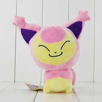 Cute 18cm Kawaii Pokemon Skitty Plush Cat Toys Animal Soft Stuffed Doll Toy free shipping