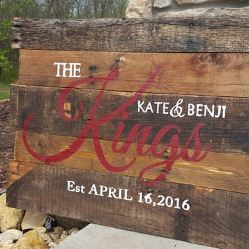 Personalized Wood Monogram Sign-Pallet Robinson style