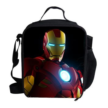 2015 Fashion Cute Insulated Lunch Bag For Kids The Avengers Superhero Hulk Ironman Lunch Bag Thermal Cooler For Children School