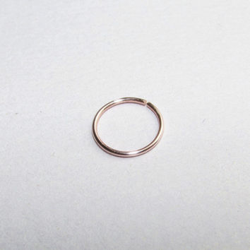 Rose Gold Nose Ring - Custom Size 6mm 8mm 10mm - Thin Nose Ring - Nose Hoop
