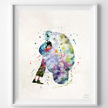Big Hero Print, Hiro Watercolor Art, Type 1, Disney Poster, Home Decor, Bathroom Art, Kids Wall Art, Art Print Shop, Halloween Decor