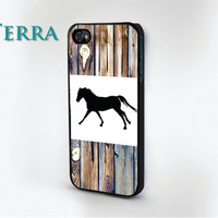 Horse Wood Grain Print - iphone 5 cases Cool iPhone Cases- Cool iPhone Cases