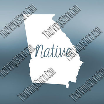 Georgia Home Decal | Georgia State Decal | Homestate Decals | Native Sticker | Love Decal  | Car Truck Decal | Car Stickers | 521